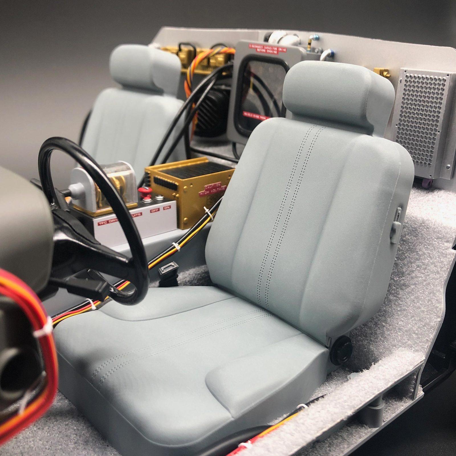 DeLorean Carpet mods fitted around seats