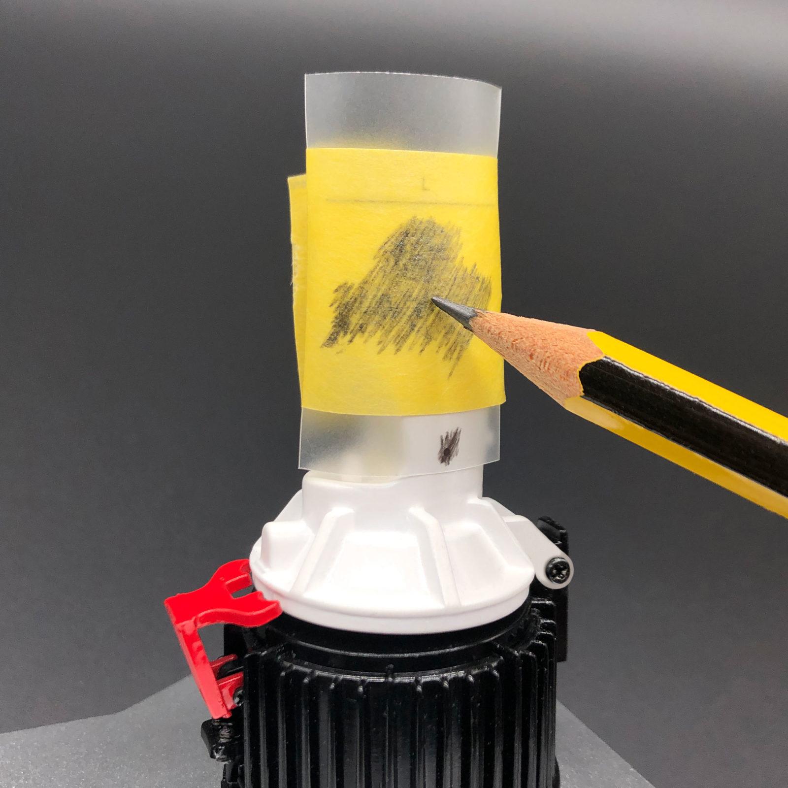 Applying Mr Fusion Transfer application using a pencil