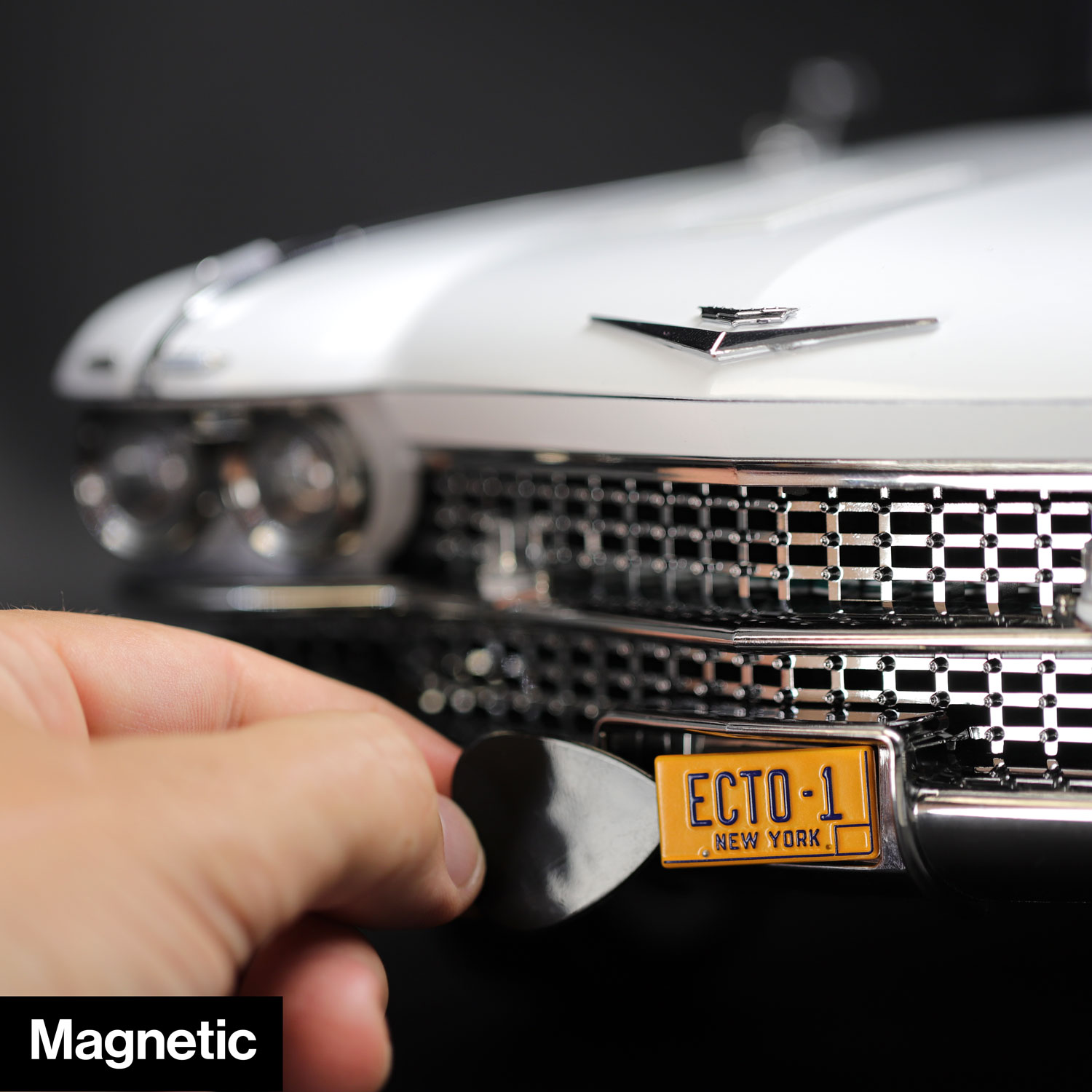 Magnetic die-cast licence plate for Hero Collector Ecto-1
