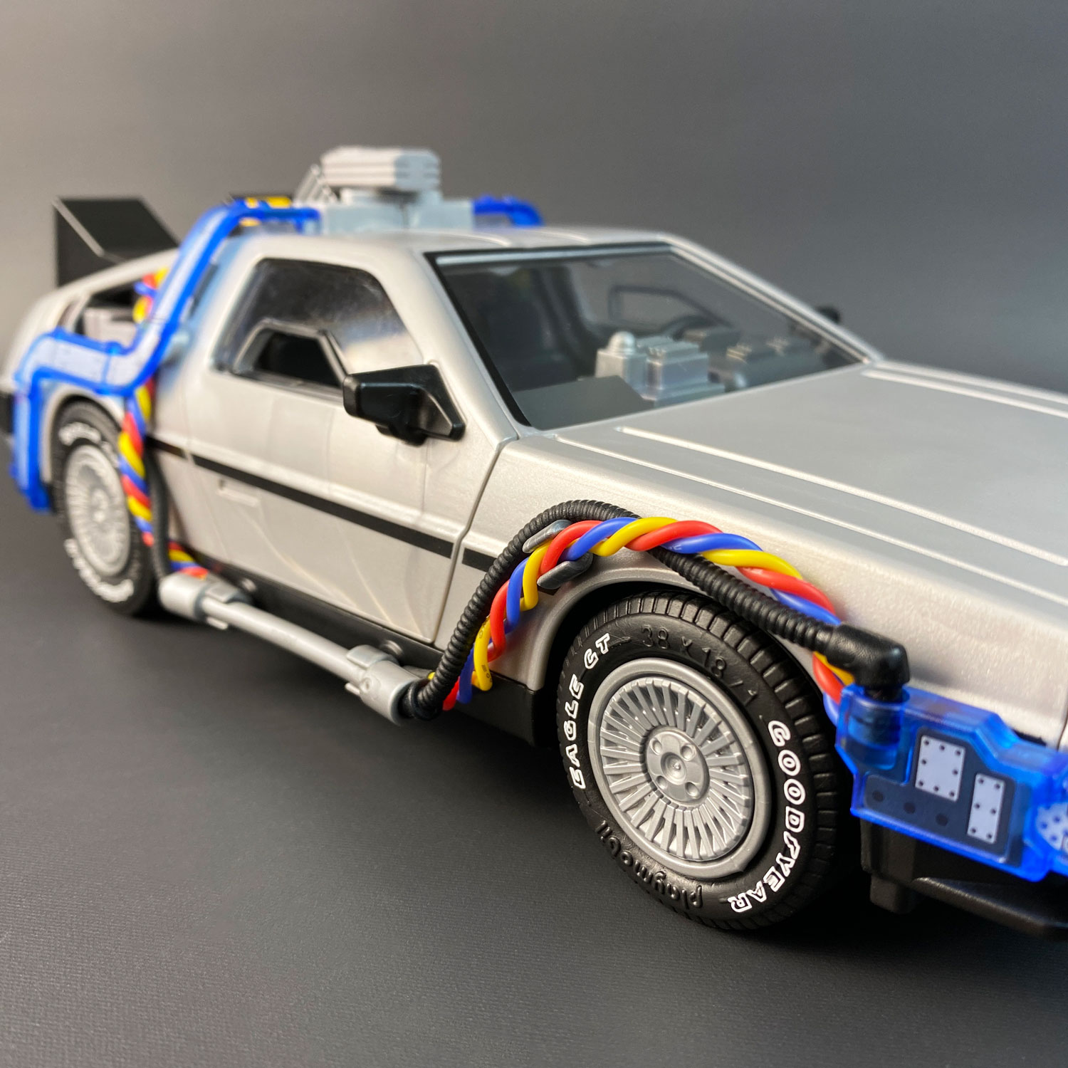 Playmobil DeLorean with Flux Wires by Mike Lane mods