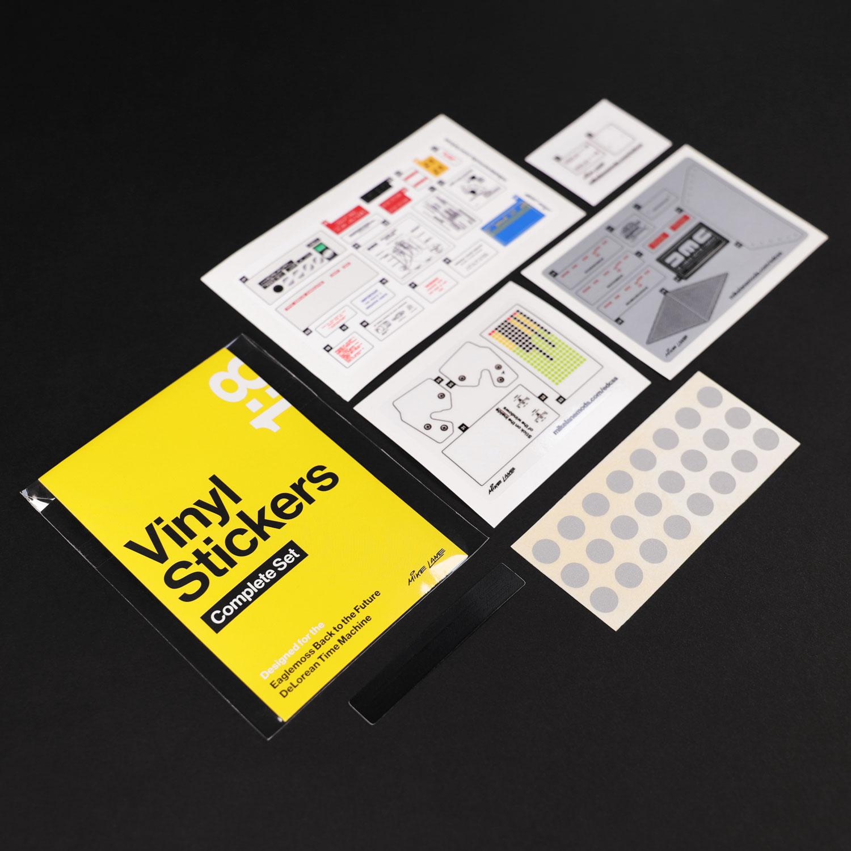 Mod contents for DeLorean Vinyl Stickers Complete Set