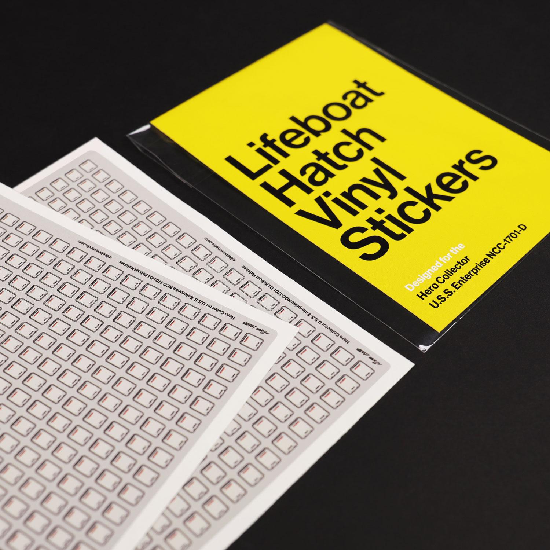 Lifeboat Hatch Vinyl Stickers for U.S.S. Enterprise NCC-1701-D