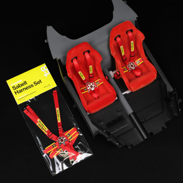 Complete Sabelt Harness Set in mod package and applied to model